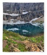 The Heart Of Many Glacier Fleece Blanket