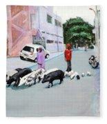 The Herd 5 - Pigs Fleece Blanket