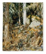 The Hermit. Il Solitario Fleece Blanket
