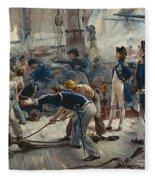 The Hero Of Trafalgar Fleece Blanket