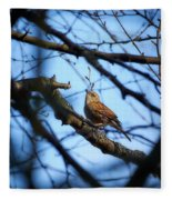 The Hiding Singer. Dunnock Fleece Blanket