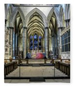 The High Altar In Salisbury Cathedral Fleece Blanket