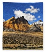 The High Andes Painted Version Fleece Blanket