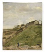 The Hill Of Montmartre With Stone Quarry 2 Fleece Blanket
