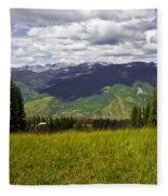 The Hills Are Alive In Vail Fleece Blanket