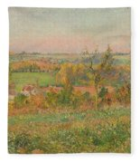 The Hills Of Thierceville Seen From The Country Lane Fleece Blanket