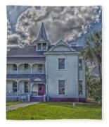The Historic Rabb Plantation Home Fleece Blanket