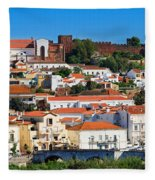 The Historic Town Of Silves In Portugal Fleece Blanket