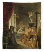 The History Painter Fleece Blanket