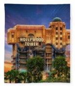The Hollywood Tower Hotel Disneyland Fleece Blanket