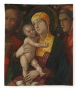 The Holy Family With Saint Mary Magdalen 1500 Fleece Blanket
