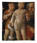 The Holy Family With St John Fleece Blanket