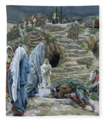The Holy Women Stand Far Off Beholding What Is Done Fleece Blanket