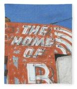 The Home Of R Fleece Blanket