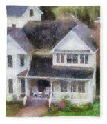 The Homes Of Mackinac Island Michigan 02 Pa Fleece Blanket