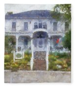 The Homes Of Mackinac Island Michigan 04 Pa Fleece Blanket
