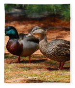 The Honeymooners - Mallard Ducks  Fleece Blanket