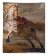 The Horse And The Snake Fleece Blanket