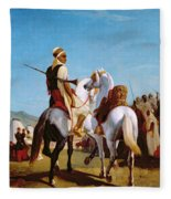 The Horse Of Submission Fleece Blanket