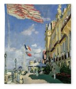 The Hotel Des Roches Noires At Trouville Fleece Blanket