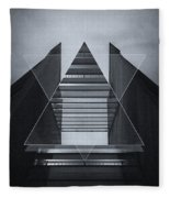 The Hotel Experimental Futuristic Architecture Photo Art In Modern Black And White Fleece Blanket
