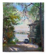 The House By The River Fleece Blanket
