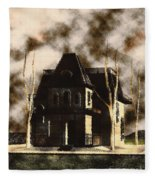 The House From Psycho Fleece Blanket
