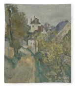 The House Of Dr Gachet In Auvers Sur Oise Fleece Blanket