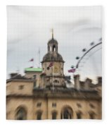 The Household Cavalry Museum London Abstract 2 Fleece Blanket