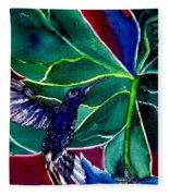 The Hummingbird And The Trillium Fleece Blanket