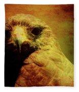 The Hunter . Portrait Of A Hawk . Texture . 40d7877 Fleece Blanket