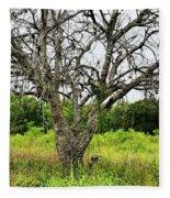 The Hunting Tree Fleece Blanket