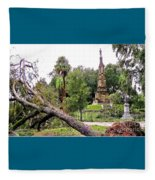 The Hurricane And The Confederate Monuments Fleece Blanket