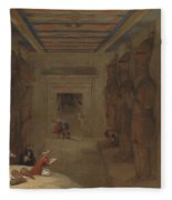 The Hypostyle Hall Of The Great Temple At Abu Simbel Egypt Fleece Blanket