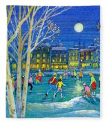 The Iceskaters Fleece Blanket
