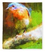 The Impressive Bluebird Fleece Blanket