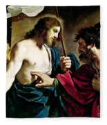 The Incredulity Of Saint Thomas Fleece Blanket