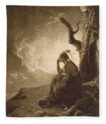 The Indian Widow Fleece Blanket