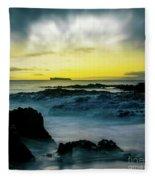 The Infinite Spirit  Tranquil Island Of Twilight Maui Hawaii  Fleece Blanket