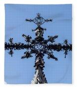 The Iron Cross Of Santa Cruz Fleece Blanket