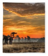 The Iron Horse 517 Sunrise Fleece Blanket