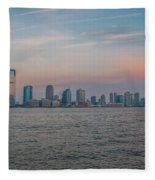 The Island Of Manhattan Fleece Blanket