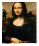 The Isleworth Mona Lisa Fleece Blanket