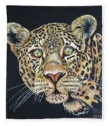 The Jaguar - Acrylic Painting Fleece Blanket