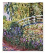 The Japanese Bridge Fleece Blanket