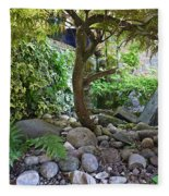 The Japanese Garden Fleece Blanket