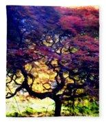 The Japanese Maple Fleece Blanket