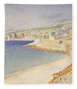 The Jetty At Cassis Fleece Blanket