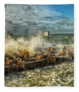 The Jetty Storm Fleece Blanket