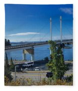 The John O'connell Bridge Is A Cable-stayed Bridge Over The Sitk Fleece Blanket